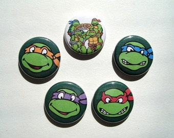 Teenage Mutant Ninja Turtles Pinback Button Set 1