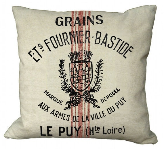 Reproduction Grain Sack in Choice of 14x14 16x16 18x18 20x20 22x22 24x24 26x26 inch Pillow Cover