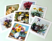 Set Of 4 Greeting Cards From Original Artwork Your Choice