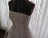 Drop Wedding Veil  50 Inches in Pale Pink