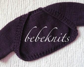 Hand Knit Baby Bolero Sweater