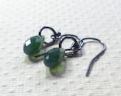 Dangle Earrings, Swarovski Crystal in Palace Green, Green Earrings, Crystal Earrings, Women's Jewelry, Drop Earrings
