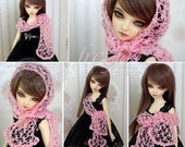Pink scarf for bjd MSD