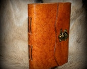 Dragon Skin: Handmade Leather Journal with Clasp
