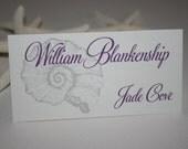 Beach Theme Place or Escort Cards Elegant - Wedding/Quince/Bat Mitzvah