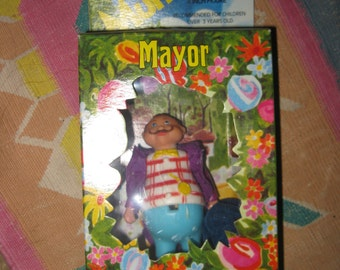 Wizard of Oz  doll Munchkinland Mayor   Man  New in box Mego