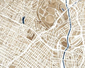 Los Angeles City Map Print