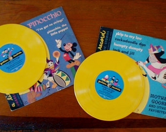 Little Golden Vinyl Classic Records...Pinocchio, Mother Goose Favorites, All Classics...Unbreakable, Children's Records