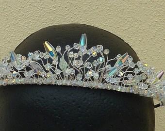Less than half price SALE Wedding tiara: sparkling Ice Queen crystal tiara with clear Swarovski and Preciosa crystals