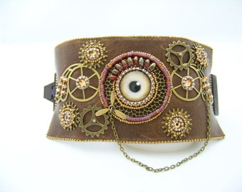 Steampunk Eyeball Cuff