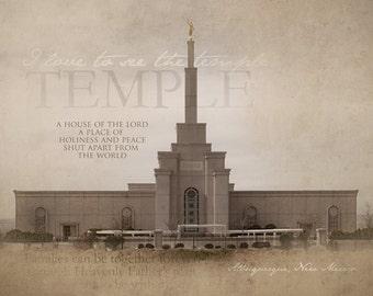 Albuquerque, New Mexico LDS Temple Print 16x20