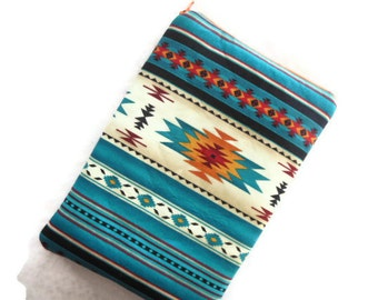 Ipad mini/Kindle 3/Nook Color / Kindle Fire / Tablet PC / eReader Sleeve Case Cover Tucson Southwestern Fabric