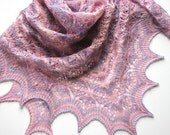 Light Pink Mist -  hand knitted shawl cashmere