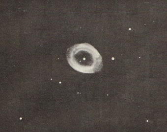 1905 Ring Nebula and the Omega Nebula Vintage Photo Print