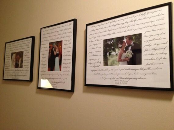 Custom WEDDING SONG 3 Photo Frame Package Bride Groom Song