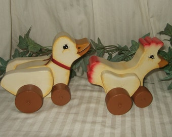 Image result for old wood toy ducks pull toys