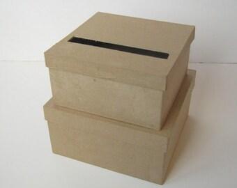 DIY Wedding Card Box SMALL Unfinished 2  tier card Box