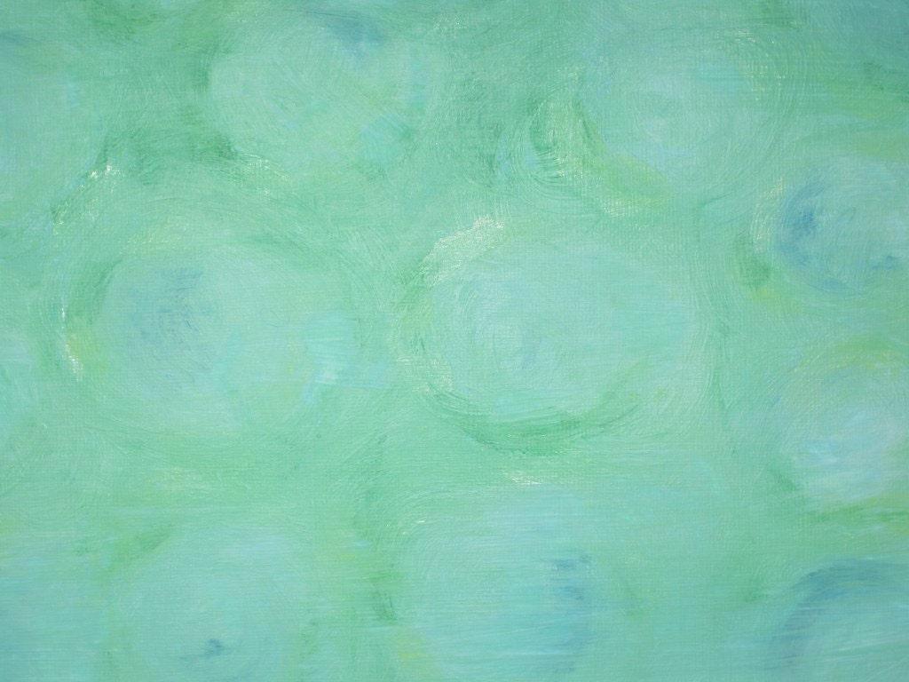 Green Foggy Garden Walll Art Tiffany Blue Emerald Abstract