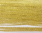 3 ft equal to 1m of Cable Bulk Chain Necklace 2mm Gold Tone - 5848 Wholesale Chain