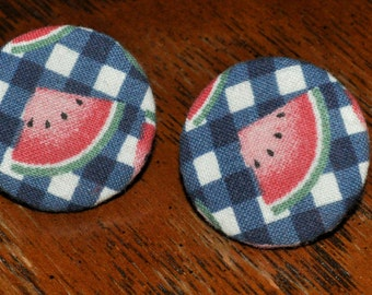 Cute Vintage Watermelon Fabric Earrings