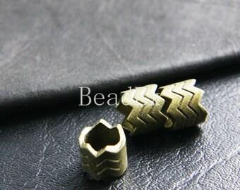 14pcs / Chevron Zig Zag / Spacer / Antique Brass Tone / Base Metal / 10x12mm  (XB4046//B173)