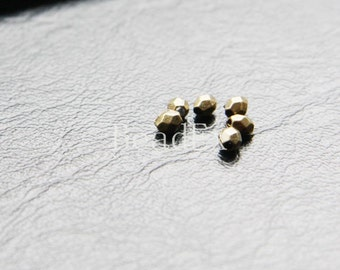 100pcs / Spacer / Faceted / Antique Brass / Base Metal / 4x3mm (YB8704//C51B)