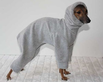 Pale Grey Snood Jammies / Pajamas / Snowsuit for Italian Greyhounds - other colours available - IMPORTANT - see item details