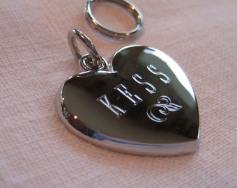 Dog ID Tag- Heart with Small Flower