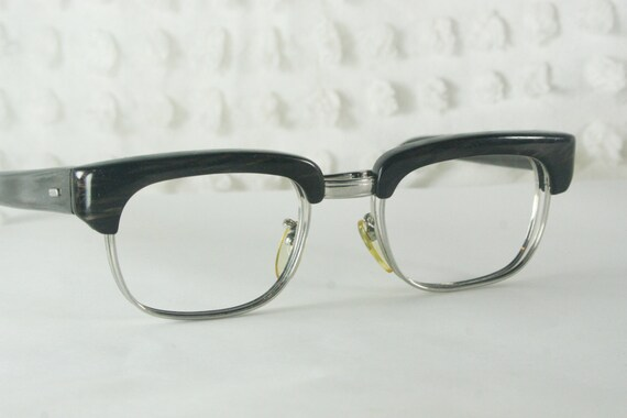 60s Mens Glasses 1960s Browline Eyeglass Frames by DIAeyewear