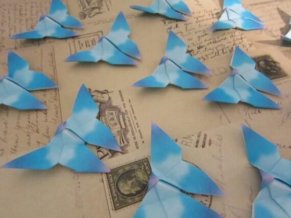 40 Cloudy Daydream Origami Butterflies