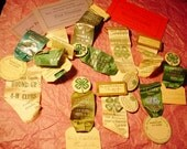 Reserved for smalls4utoo Antique 4H Pins and Ribbons Collection 1928 to 1934 Vintage