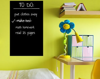 Rectangle Chalkboard Wall Decal