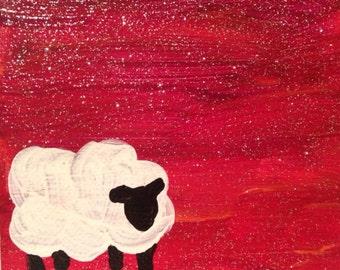 Mini sheep at Sunset