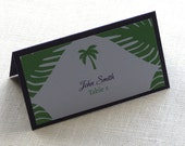 RESERVED for cschafer90 - Palm Tree Beach Place Cards and Favot Labels