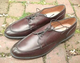 Vintage Allen Edmonds men's leather shoes size 11 1/2 B, burgundy leather shoes, men's dress shoes, Father's Day gift for dad