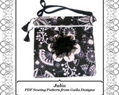 """PDF Sewing Pattern iPad 1, 2, 3 or 4, iPad Air, or other tablet computers case cover with pocket zipper handles fully lined """"Julia"""""""