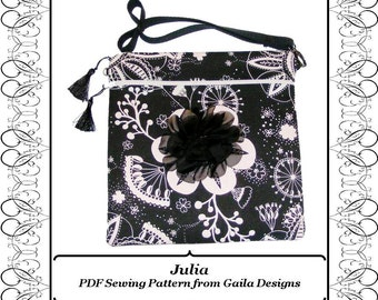 """PDF Sewing Pattern iPad 1, 2, 3 or 4, iPad Air 1,2, iPad Pro 9.7, or other tablets,  cover with pocket zipper handles fully lined """"Julia"""""""