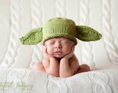 Knit Yoda Hat Pattern - Baby Yoda Hat Pattern - Yoda Hat Knitting Pattern - Knit Star Wars Hat Pattern