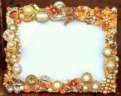 Vintage wedding brooch jewelry photo frame