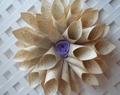 Paper Cone Wreath Upcycled Book Page Wreath