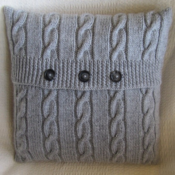 A4 KNITTING PATTERN ARAN STYLE CABLED KNITTED CUSHION ...