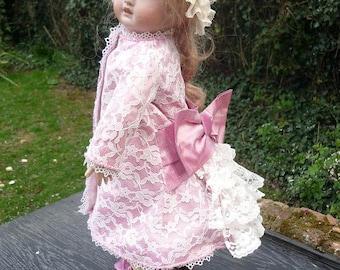 SILK DRESS and Hat 19/20 inch Dolls