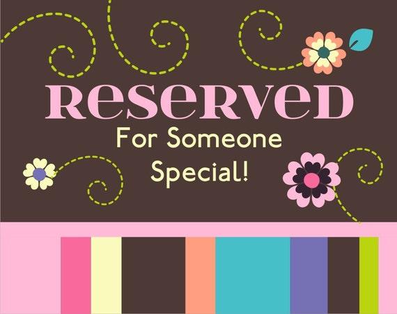Reserved Listing for Lisa U
