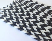 NEW to Serendipity Party Shop-Black Striped Paper Straws