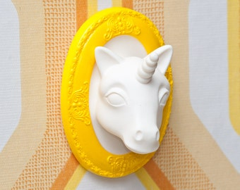 Unicorn Mini Wall Art / Jewelry Display Lemon Sorbet