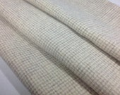 Felted Wool Fabric, Fat 1/4 yard, Natural and Gray Check, J660