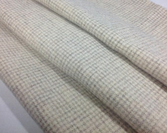 Felted Wool Fabric, Fat 1/4 yard, Natural and Gray Check, J660