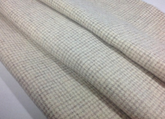 Natural and Gray Check, Wool Fabric for Rug Hooking and Applique, Fat 1/4 yard, , J660