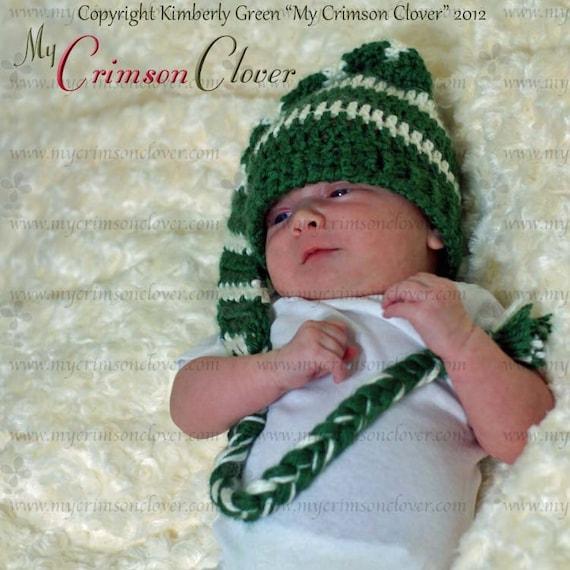 Items similar to Crochet Pattern Baby Hat - Stocking Cap ...
