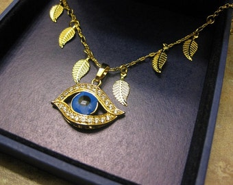 gold evil eye necklace, eye necklace, evil eye jewelry, evil eye necklace, evil eye charm,Turkey evil eye, lucky eye